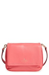 Kate Spade New York Cobble Hill Abela Leather Crossbody Bag Red Warm Guava