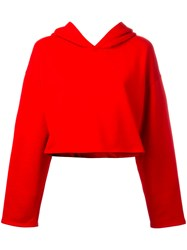 Golden Goose Deluxe Brand Cropped Hoodie Red