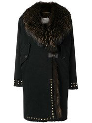 Bazar Deluxe Trimmed Mid Length Coat Black