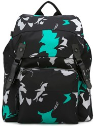 Lanvin Printed Backpack Black