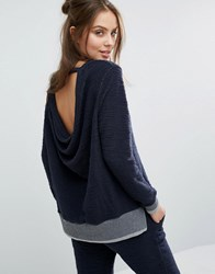 Sol Angeles Drape Back Jumper Deep Sea Navy