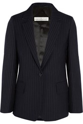 Golden Goose Pinstriped Wool And Mohair Blend Blazer Midnight Blue