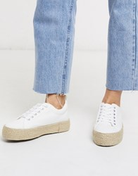 New Look Espadrille Trainers In White