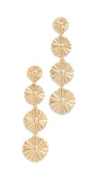 Madewell Metal Flower Drop Earrings Vintage Gold