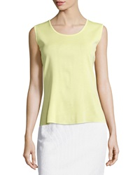 Ming Wang Sleeveless Scoop Neck Shell Luminous