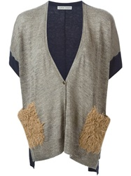 Tsumori Chisato Short Sleeve Cardigan Nude And Neutrals