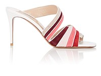 Valentino Garavani Suede And Leather Mules Pink