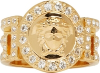Versace Gold Greek Key Cut Out Medusa Ring