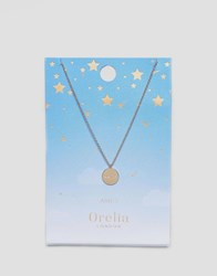 Orelia Aries Constellation Disc Pendant Gold
