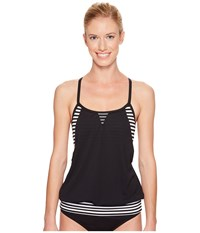 Nike Laser Sport Tankini Top Black Women's Swimwear