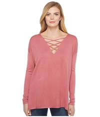 Brigitte Bailey Topsail Long Sleeve Top Rose Women's Clothing Pink