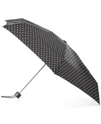 Totes Titan Auto Open Close Small Umbrella Black White