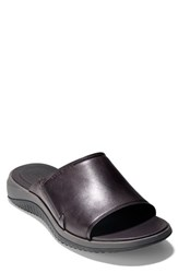 Cole Haan 2.Zerogrand Slide Sandal Dark Roast Black