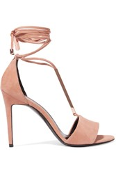 Pierre Hardy Blondie Suede Sandals Neutral