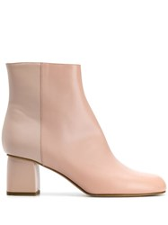 Red Valentino V Two Tone Ankle Boots Pink