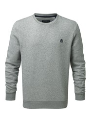Henri Lloyd Men's Moray Regular Crew Neck Knit Jumper Light Grey Marl