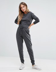 New Look Drawstring Casual Jumpsuit Mid Grey