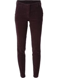Incotex Velvet Trousers Pink And Purple