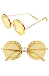 Sam Edelman Circus By 55Mm Round Sunglasses Gold Yellow Lens Gold Yellow Lens