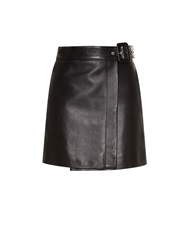 Balenciaga Belted Leather Mini Skirt