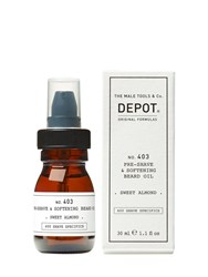 Depot N.403 Pre Shave And Softening Beard Oil Transparent