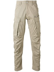 G Star Casual Trousers Men Cotton Polyester Spandex Elastane 34 Nude Neutrals