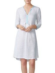 Pure Collection Linen Jersey Tassel Dress White