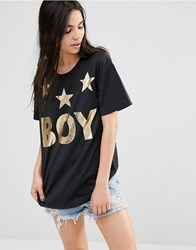 Boy London Tri Star T Shirt Blackgold