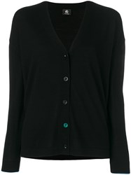Paul Smith Ps By Classic Buttoned Cardigan Wool L Black