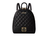 Love Moschino Quilted Mini Backpack Black