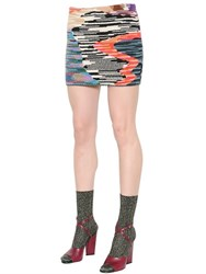 Missoni Patchwork Cool Wool Slub Knit Skirt