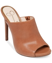 Jessica Simpson Rian Slide On Mules Women's Shoes Light Luggage