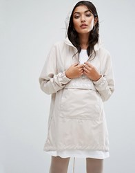 Ellesse Overhead Lightweight Jacket With Hood Dirty White