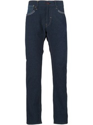Junya Watanabe Comme Des Garcons Man Polka Dot Patch Pocket Trousers Blue