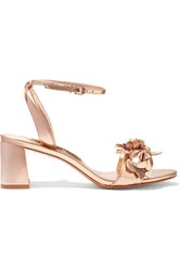 Sophia Webster Lilico Appliqued Metallic Leather Sandals Gold