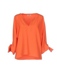 Le Ragazze Di St. Barth Shirts Blouses Women Orange