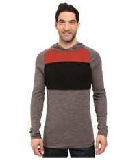 Smartwool Nts Mid 250 Color Block Hoodie Taupe Heather Men's Sweatshirt