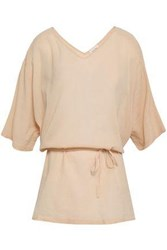 American Vintage Woman Cotton Georgette Tunic Beige