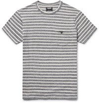 Todd Snyder Slim Fit Striped Cotton Jersey T Shirt Anthracite