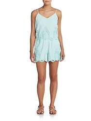 Saks Fifth Avenue Red Gardner Cotton Romper Mint
