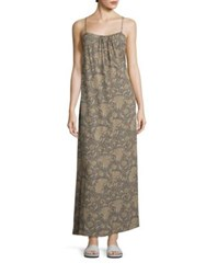 Vince Vintage Silk Dress Natural