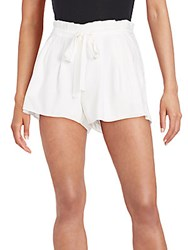Ramy Brook Albert Stretch Silk Shorts Summer White