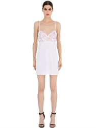 La Perla Begonia Modal And Lace Babydoll Dress
