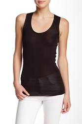 Inhabit Scoop Neck Tank Brown