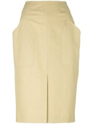 Isabel Marant Stanton Patch Pocket Skirt Nude Neutrals