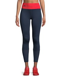 Adidas By Stella Mccartney High Waist Training Ultimate Tights Navy