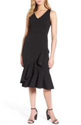 Soprano Women's Ruffle Hem Dress Black
