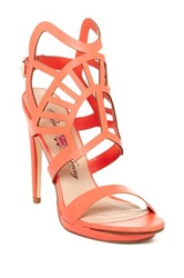 Penny Loves Kenny Marlon Laser Cut High Heel Sandal Orange