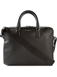Z Zegna Logo Plaque Laptop Case