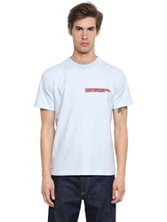 Calvin Klein 205W39nyc Embroidered Heavy Cotton Jersey T Shirt Light Blue
